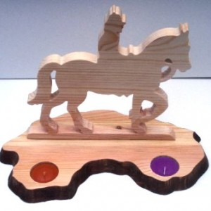 Horse & Rider Candle Holder