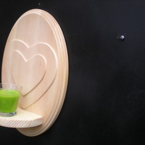 Heart 3D Double Candle Holder In Wood