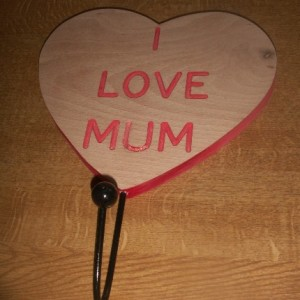 "I Love Mum Theme ""Engraved"""
