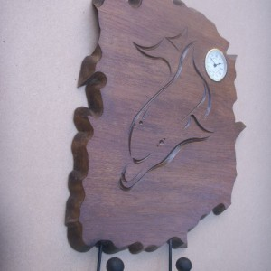 Dolphin Engraved Clock With Hooks