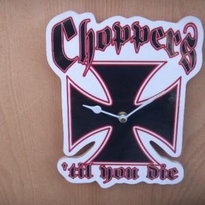Chopper Biker Cross Clock