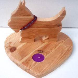 Scotty-dog Candle Holder