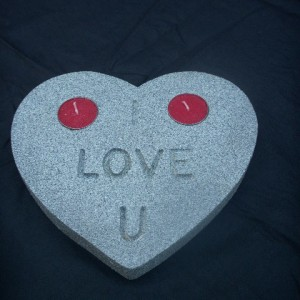 Candle Love Heart Stone Affect