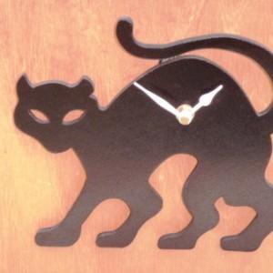 Black Cat Clock Design