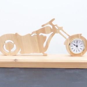 Chopper Biker Clock Wood