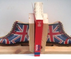 Bookends/ UK Flag-DM Boots