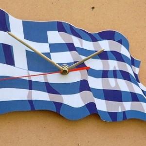 Greek Flag Clock 01