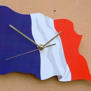 French Flag Clock 02