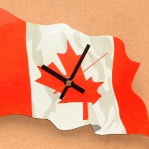 Canadian Flag Clock 03
