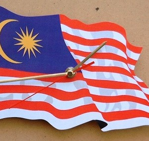 Malaysian Flag Clock 04