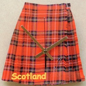 Scottish Kilt Theme Clock 03