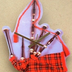 Scottish Bagpipes Theme Clock 05
