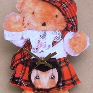 Scottish Teddy-bear Theme Clock 08
