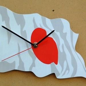 Japanese Flag Clock 05