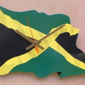 Jamaican Flag Clock 06