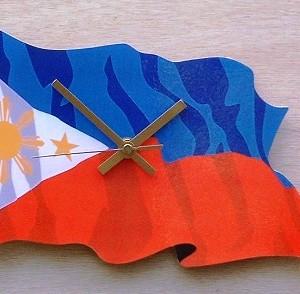 Philippine Flag Clock 09