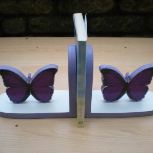 Butterfly Bookend Mauve