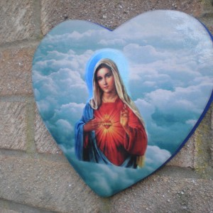 Mother Mary Heart 2 Plaque