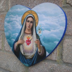 Mother Mary Heart Plaque