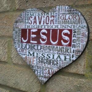 Jesus/Messiah Plaque Heart