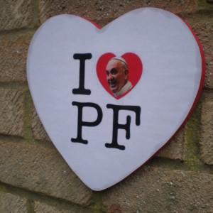 I Love PF Heart Pope