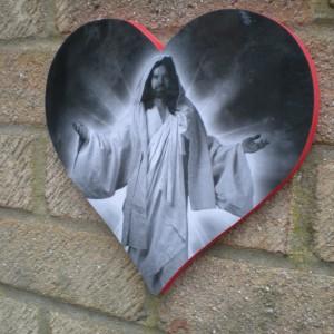 Jesus Love Heart Plaque