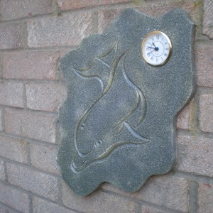 Dolphin Engraved Clock Design