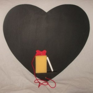 Love Heart Chalk Board Large