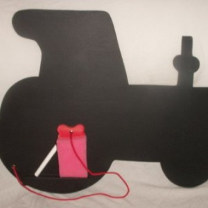 Tractor Chalk Board Large Large