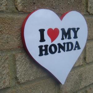 Honda (I Love My Honda) Love Heart Plaque
