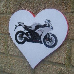 Honda Fireblade Love Heart Plaque