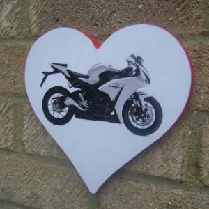 Honda Fireblade Love Heart Plaque