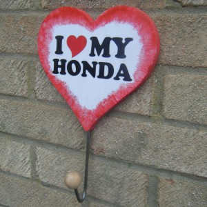 Honda Love Heart Red Surround Clothes/hat Hanger