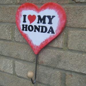 Honda Love Heart Red Surround Clothes/hat Hanger