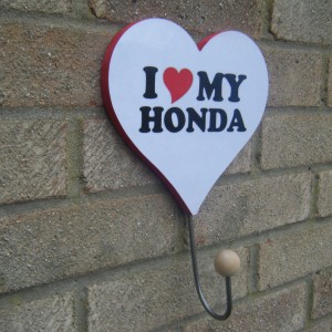 Honda (I Love My Honda) Love Heart Clothes/hat Hanger