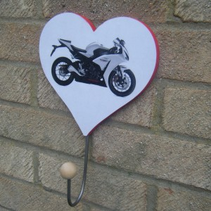 Honda Fireblade Love Heart Clothes/hat Hanger