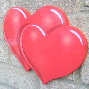 Heart Double Love Plaque
