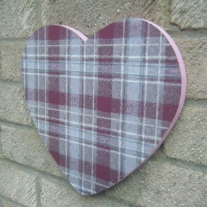 Scottish Tartan Heart Design