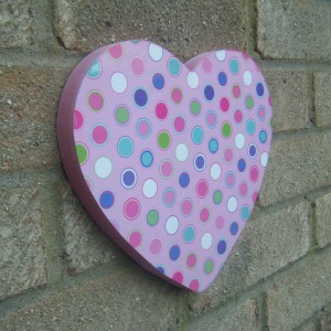 Pink Polka-dot Colours Heart Design
