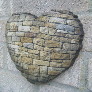 Brick Heart Design Rough Edge