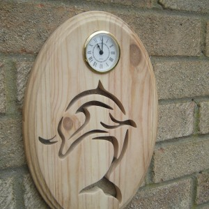 Dolphin Clock 3 D Design Edged