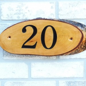 House Sign ENGRAVED- 20 Off The Bark
