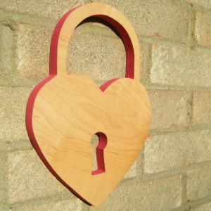 Wooden Heart Lock